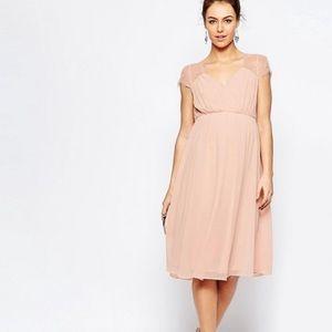 NWT ASOS maternity mid-line dress.